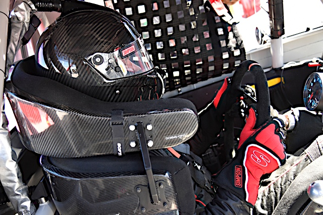 Cory Roper is ready to go in the No. 04 Preferred Industrial Contractors, Inc. Ford F-150 at Las Vegas Motor Speedway.